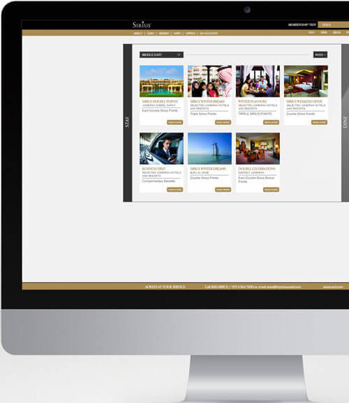 Jumeirah Hotels and Resorts Microsite - Luxury Hotel Branding