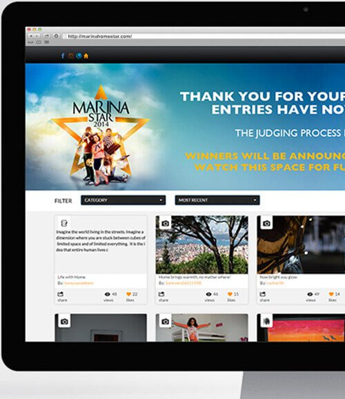 Marina Home Case Study - Online Campaign for Creative Competition