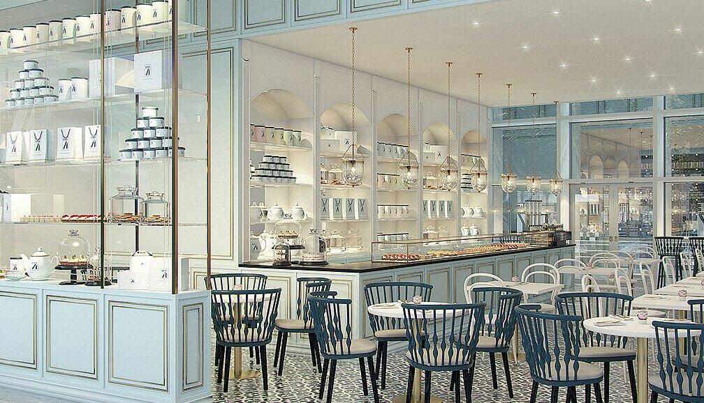 Rue 71 dubai brand identity caf interior design for Insignia interior design decoration